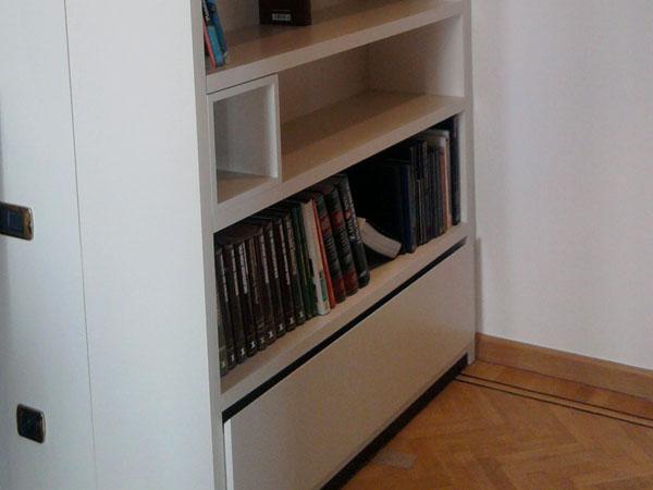 Woonkamer Met Bibliotheek : Realisaties category: woonkamer image: bibliotheek kast